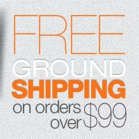 FREE Ground Shipping on orders over $99