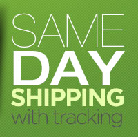 Same Day Shipping with Tracking
